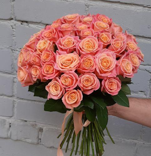 Монобукет из нежно розовых роз