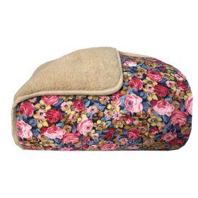 Одеяло меховое из открытой шерсти Цветочная поляна