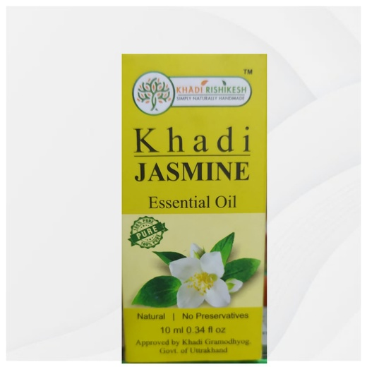Эфирное масло для ароматерапии Жасмин, 10 мл, производитель Кхади; Jasmine Essential Oil, 10 ml, Khadi