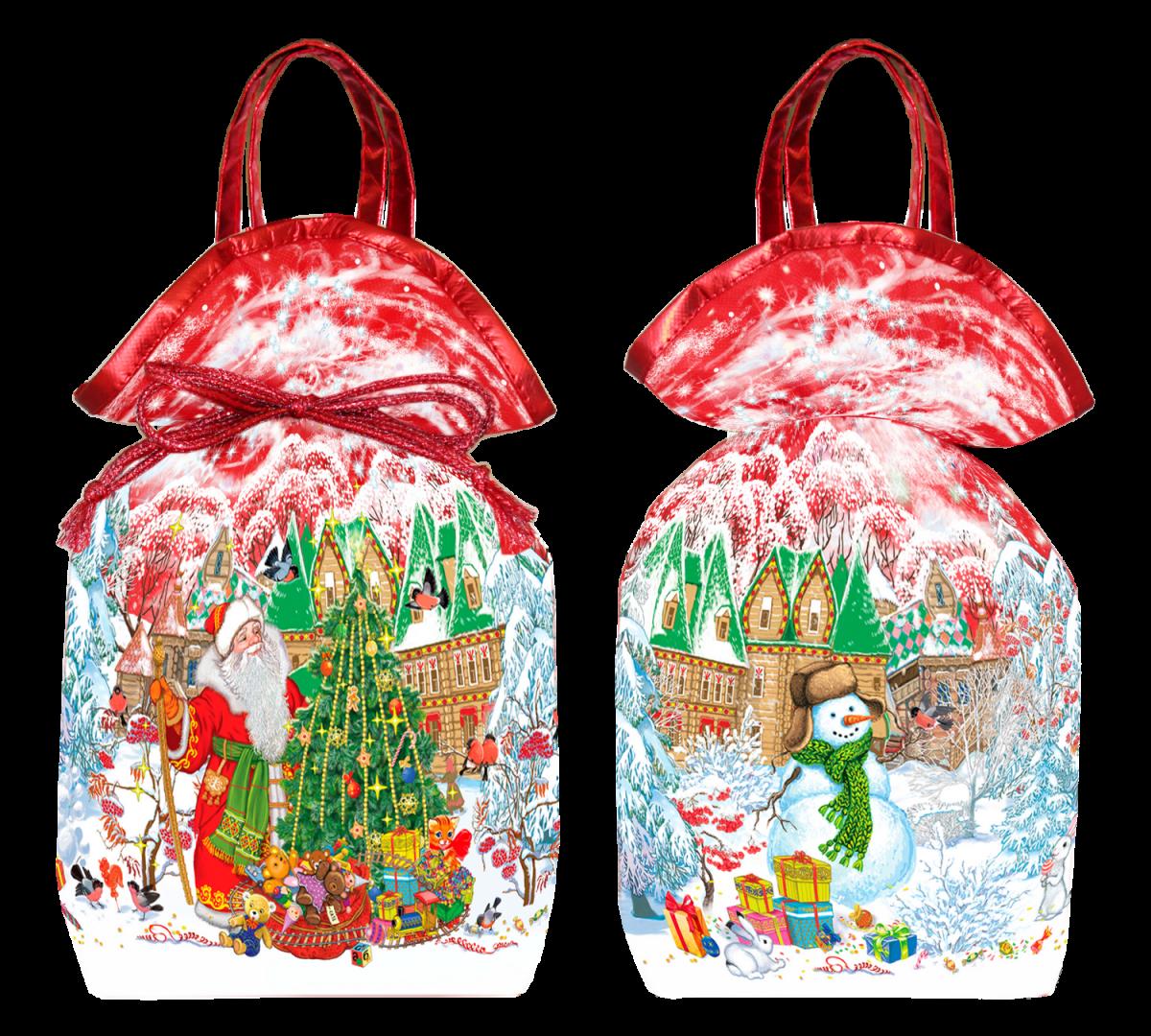 Дед мороз с елочкой 1500 грамм (красный)