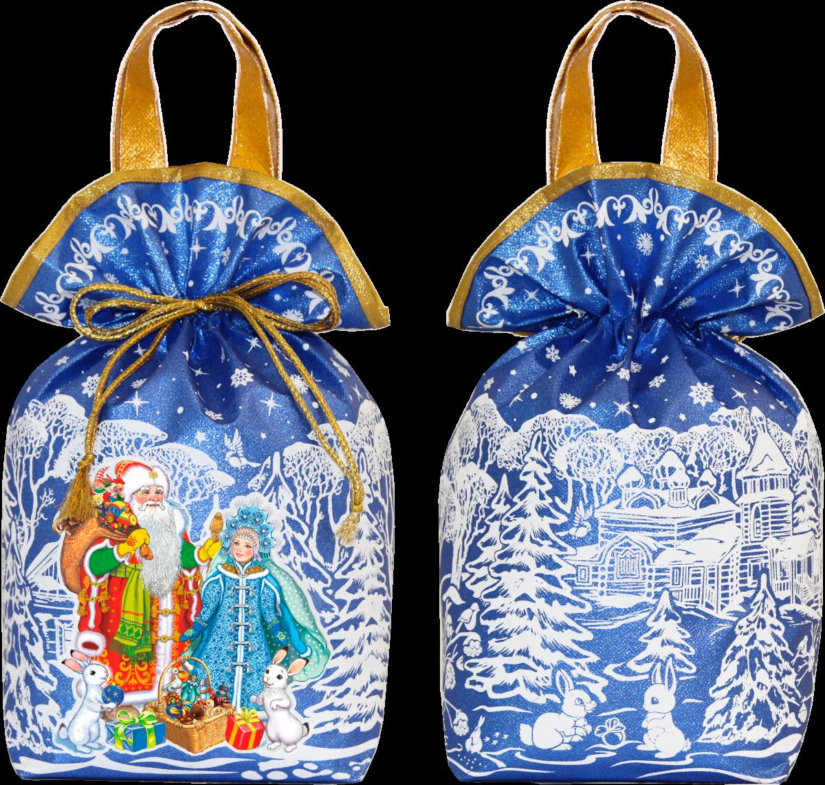 Дед Мороз и Снегурочка (синий) 2000 грамм