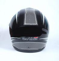 Шлем интеграл Safebet 112 black, white фото 4