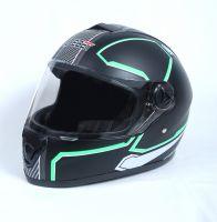 Шлем интеграл Safebet 112 matt black, green фото 3