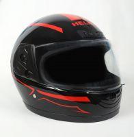 Шлем интеграл Helmo HZF03 Black-Red фотоШлем интеграл Helmo HZF03 Black-Red фото 2