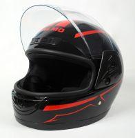 Шлем интеграл Helmo HZF03 Black-Red фото 3