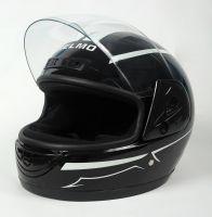 Шлем интеграл Helmo HZF03 Black-White фото 3