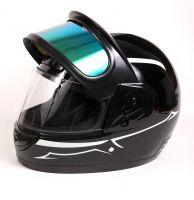 Шлем интеграл Helmo Double Glass Black-Blue фото 7