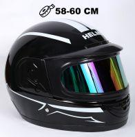Шлем интеграл Helmo Double Glass Black-White