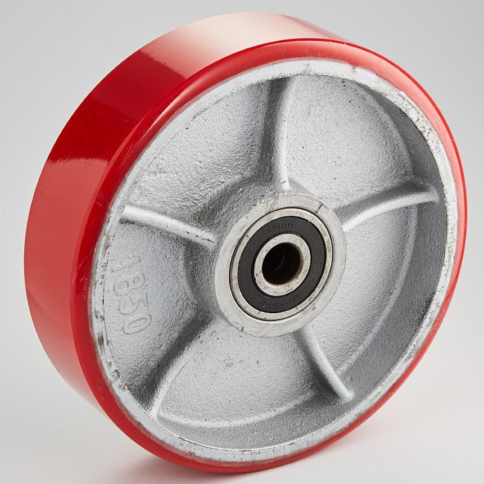 Колесо полиуретановое для тележки гидравлической 180х50
