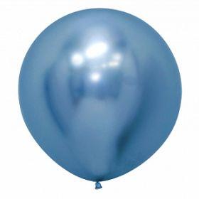 """Рефлекс Синий, (Зеркальные шары), 24""""/ 60 см, 1 шт"""