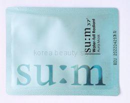 su:m37° Water -full Radiant Aura Mask -  быстродействующая увлажняющая маска  для сияющей здоровьем кожи лица (пробник-саше 3 гр)