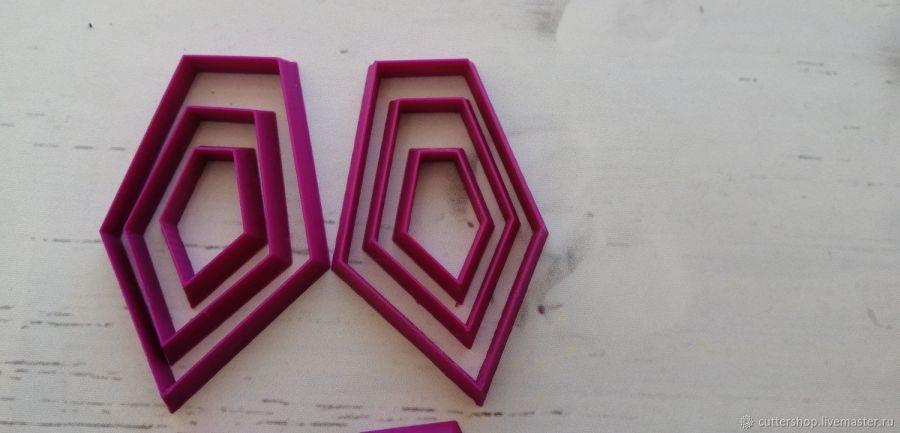 Каттеры для полимерной глины #34 (зеркальные )