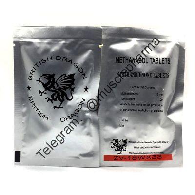 Methanabol  (МЕТАН). BRITISH DRAGON. 100 таб. по 10 мг. !!!100% ОРИГИНАЛ!!!