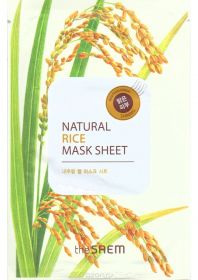 The saem natural rice mask sheet 21ml - Маска с экстрактом риса