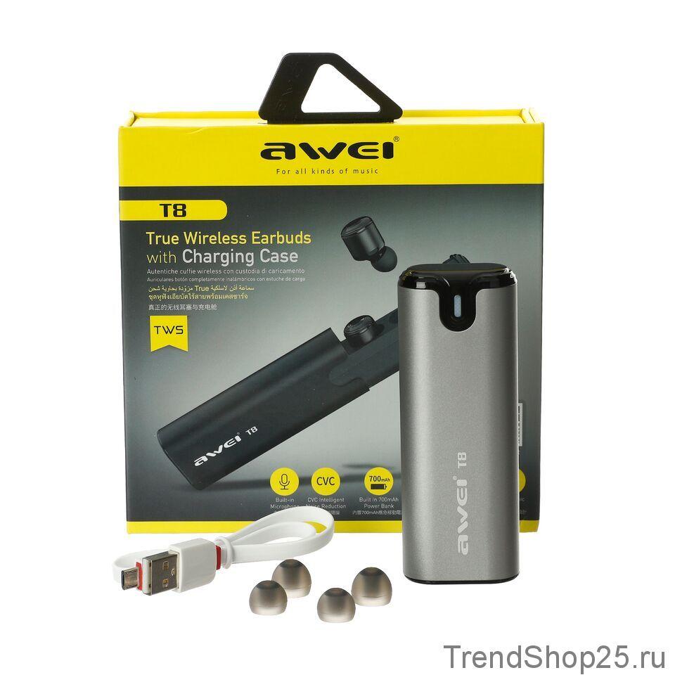 Беспроводные Bluetooth наушники Awei T8