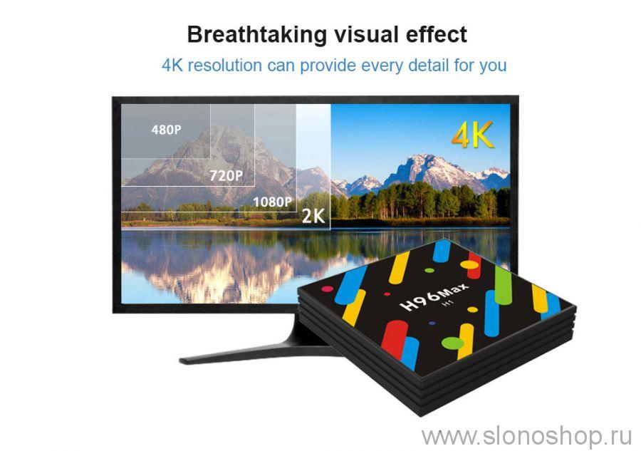 Смарт ТВ андроид приставка H96 MAX H1