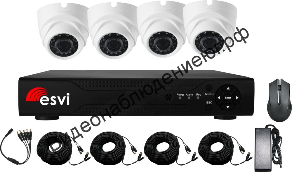 Комплект AHD видеонаблюдения EVL-DL-H10B