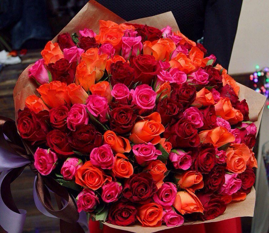 101 роза (микс)