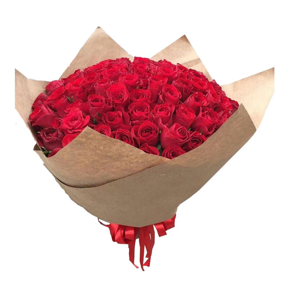 101 красно-алая роза