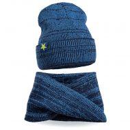 Комплект шапка-снуд для мальчика 6-12 лет №SG137