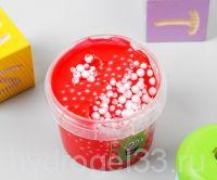 слайм с шариками красный