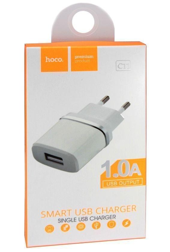 Сетевое зарядное устройство Hoco С11 USB 1A