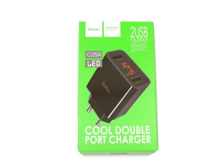 Сетевое зарядное устройство Hoco C25A LED