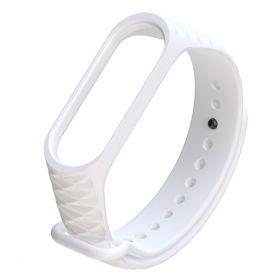 Ремешок для браслета Xiaomi Mi Band 3 рифленый (белый)