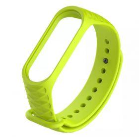 Ремешок для браслета Xiaomi Mi Band 3 рифленый (зеленый)