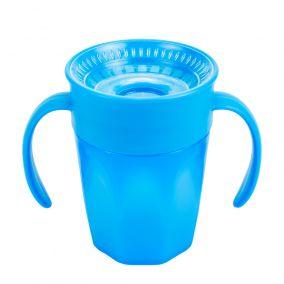 Dr.Brown's Чашка-непроливайка 200 мл Cheers 360° с ручками, синяя (Арт. ТС71004)