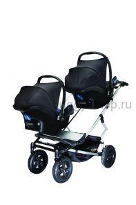 Коляска для новорожденной двойни Mountain Buggy Duet с автокреслами Maxi Cosi Citi