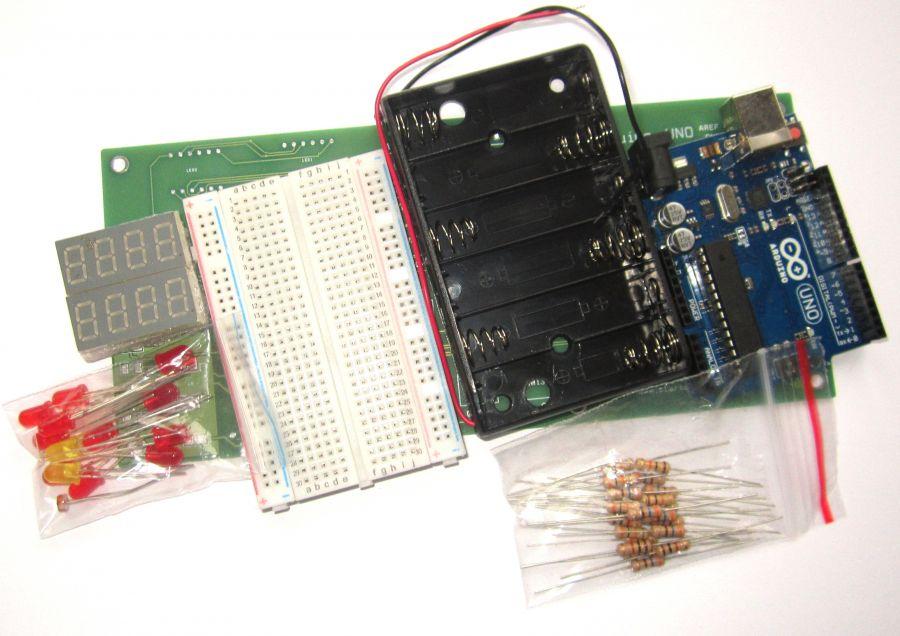 Набор электронных компонентов для пайки и программирования №2