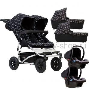 Duet  (Дует) 3 в 1, Детская коляска для новорожденной двойни Mountain Buggy Duet 3 в 1 (Маунтин Багги Дует)