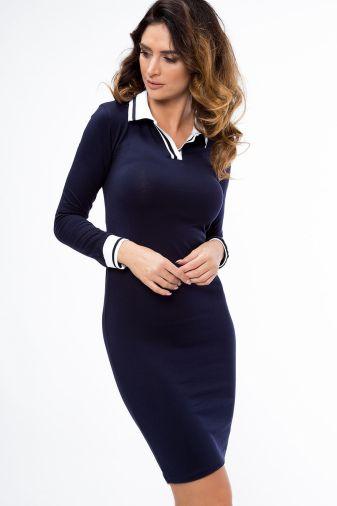 Платье-3662 синее