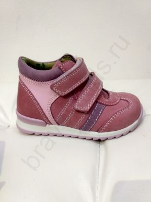 304-1 Ortopedia Кроссовки Детские (21-25) на флисе в розовом цвете