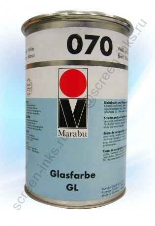 Краска Marabu Glasfarbe GL 070 White 1 кг