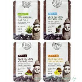 Welcos Jeju Natural Mask 20ml - тканевая маска для увлажнения, питания и очищения пор