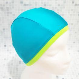 Бирюзовая Текстильная шапочка для плавания