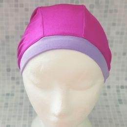 Розовая Текстильная шапочка для плавания