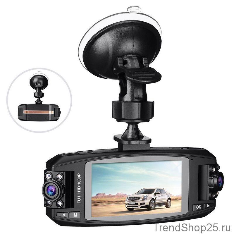 Видеорегистратор с двумя камерами HD 1080