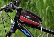 Сумка для велосипеда на раму с чехлом для телефона