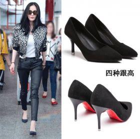 Классические женские туфли на каблуке
