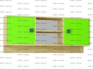Полка навесная Колибри (120х25х50)