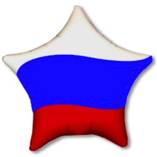 Шар гелиевый ЗВЕЗДА ТРИКОЛОР