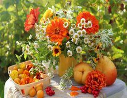 Картина по номерам Натюрморт цветы и груши W540