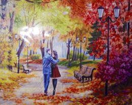 Картина по номерам Двое в парке W913