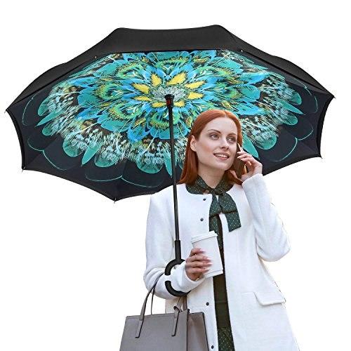 Зонт наоборот Павлиний глаз
