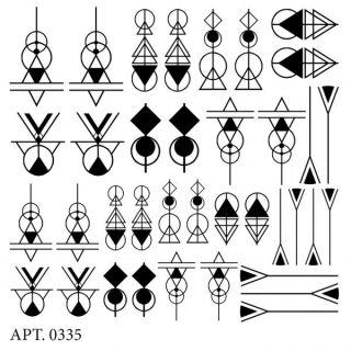 Слайдер-дизайн для ногтей № 0335