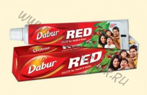 Индийская зубная паста Dabur Red 50 г (СПб)