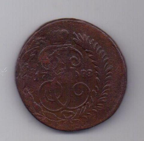 2 копейки 1788 г. СПМ перечекан
